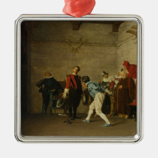 The Thespians by Jean Georges Vibert Christmas Tree Ornament