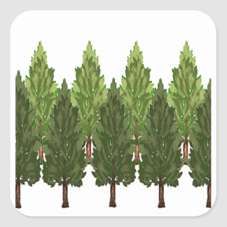 THE THICK FOREST SQUARE STICKER