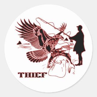 The-Thief-1-A Classic Round Sticker