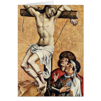 The Thief On The Cross Gesinas By Robert Campin Greeting Cards