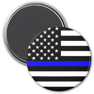 The Thin Blue Line American Flag Decor Magnet