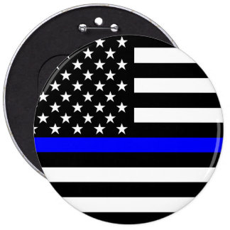The Thin Blue Line American Flag Decor Pinback Button