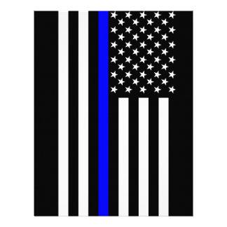 The Thin Blue Line American Flag Letterhead