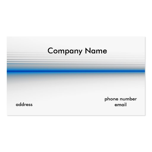 The Thin Blue Line Business Card