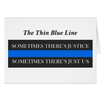 The Thin Blue Line Card