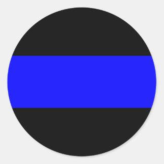 The Thin Blue Line Classic Round Sticker