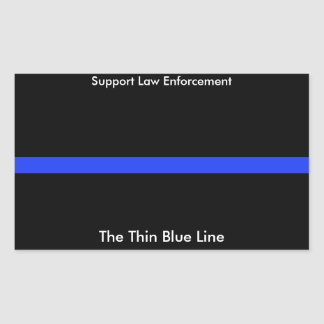 The Thin Blue Line Custom Sticker