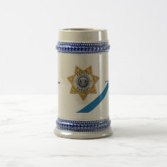 The Thin Blue Line Deputy Sheriff Beer Stein at Zazzle