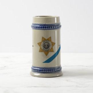 The Thin Blue Line Deputy Sheriff Beer Stein