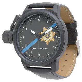 The Thin Blue Line Deputy Sheriff Watch at Zazzle