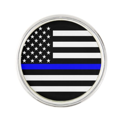The Thin Blue Line Graphic Decor Display Pin