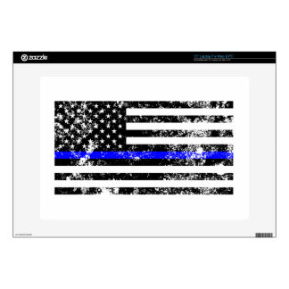 The Thin Blue Line Laptop Decals