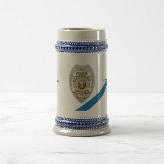 The Thin Blue Line Police Officer Beer Stein 18 Oz Beer Stein