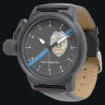 """The Thin Blue Line Police Officer Watch<br><div class=""""desc"""">The Thin Blue Line Police Officer Law Enforcement Watch</div>"""