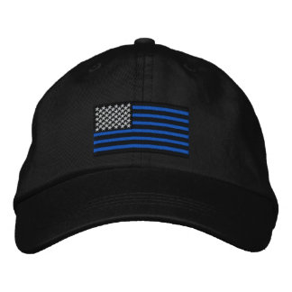 The Thin Blue Lines Embroidered Cap Embroidered Hat