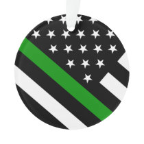 The Thin Green Line Flag Ornament