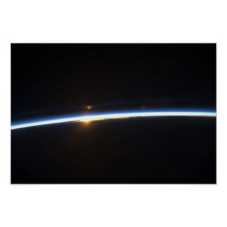 The thin line of Earth's atmosphere Poster