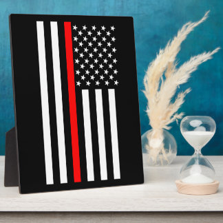 The Thin Red Line American Flag on a Plaque