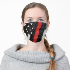 The Thin Red Line | Firefighters US Flag Cloth Face Mask