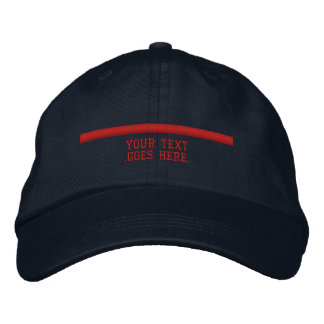 The Thin Red Line Personalize it with text Embroidered Baseball Cap