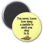 The Thing About Puddles_ Refrigerator Magnets
