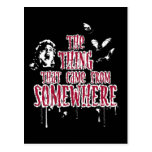 The Thing That Came From Somewhere (red) Postcards