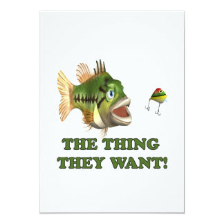The Thing They Want 2 5x7 Paper Invitation Card