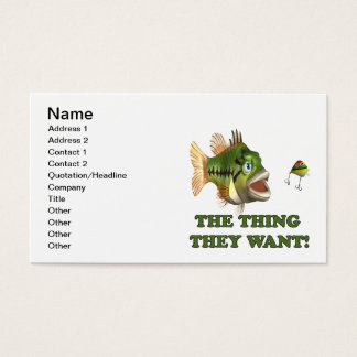 The Thing They Want 2 Business Card