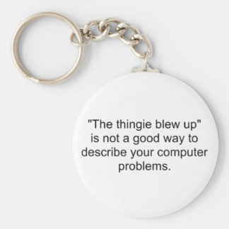 The thingie blew up Keychain