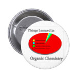 The Things I learned in Organic Chemistry 2 Inch Round Button