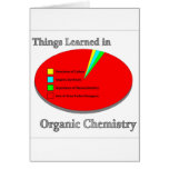 The Things I learned in Organic Chemistry Greeting Cards