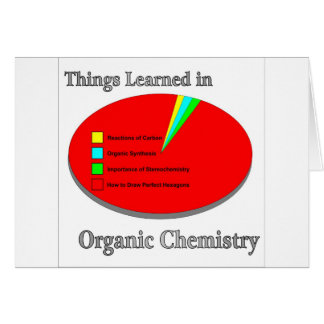 The Things I learned in Organic Chemistry Cards