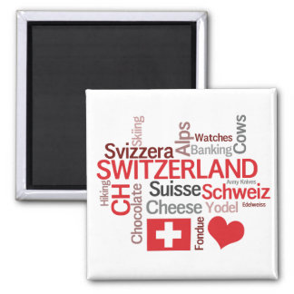 The Things I Love About Switzerland Fridge Magnets