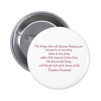 The things that will destroy America..... Pinback Button