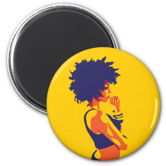The Thinker 2 Inch Round Magnet