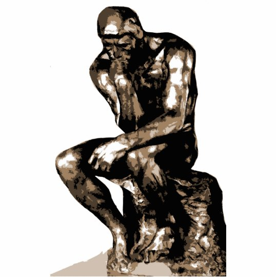 The Thinker by Auguste Rodin - Photo sculpture
