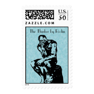 The Thinker by Auguste Rodin - Postage Stamps