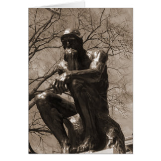The Thinker Greeting Cards