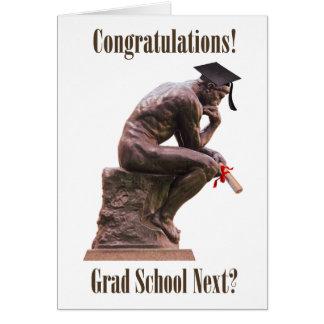 The Thinker Graduate Congratulations Card