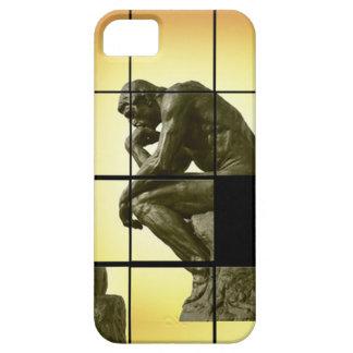 The Thinker, image sliding puzzle game, Le Penseur iPhone 5 Cases