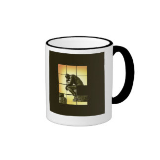 The Thinker, image sliding puzzle game, Le Penseur Ringer Coffee Mug