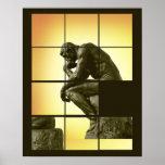 The Thinker, image sliding puzzle game, Le Penseur Poster