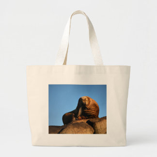 The Thinker Large Tote Bag
