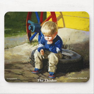 The Thinker Mouse Pad