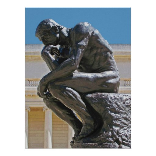 The Thinker photo painting Print