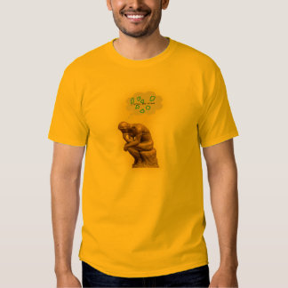 The Thinker pondering string theory T Shirt