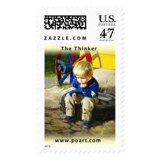 The Thinker Postage