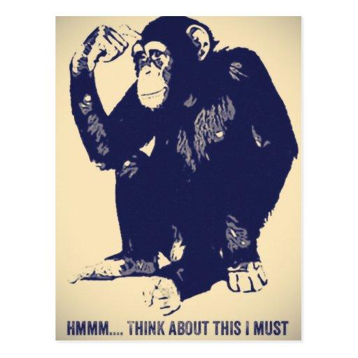 The Thinker Postcard