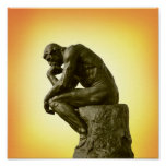 The Thinker Poster