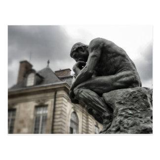 The Thinker Rodin Paris Sculpture Postcard
